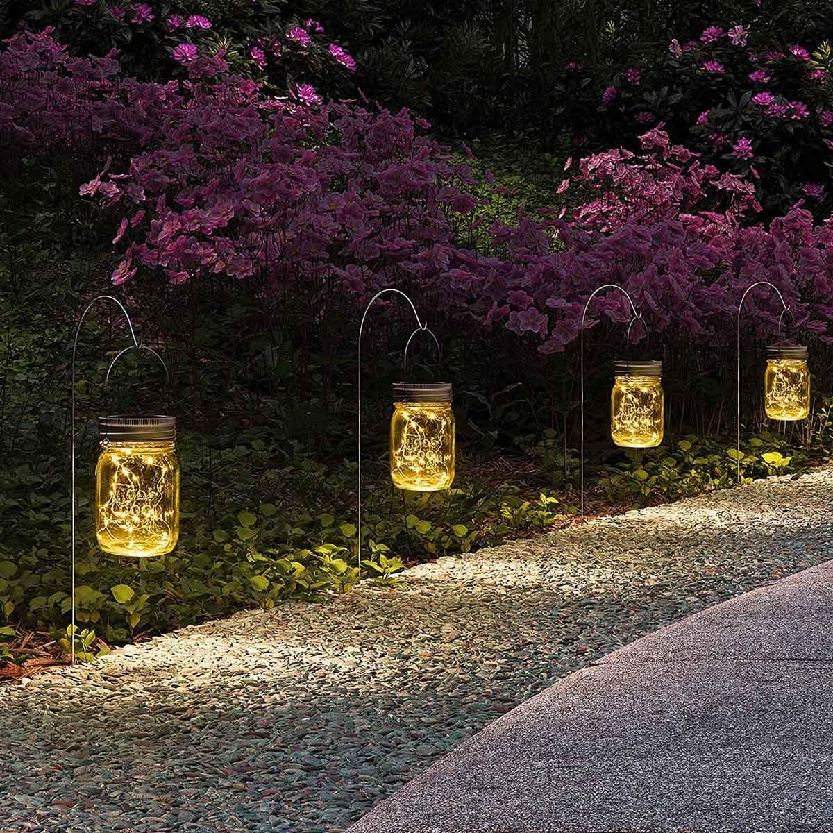 Mason Jar Path Lights