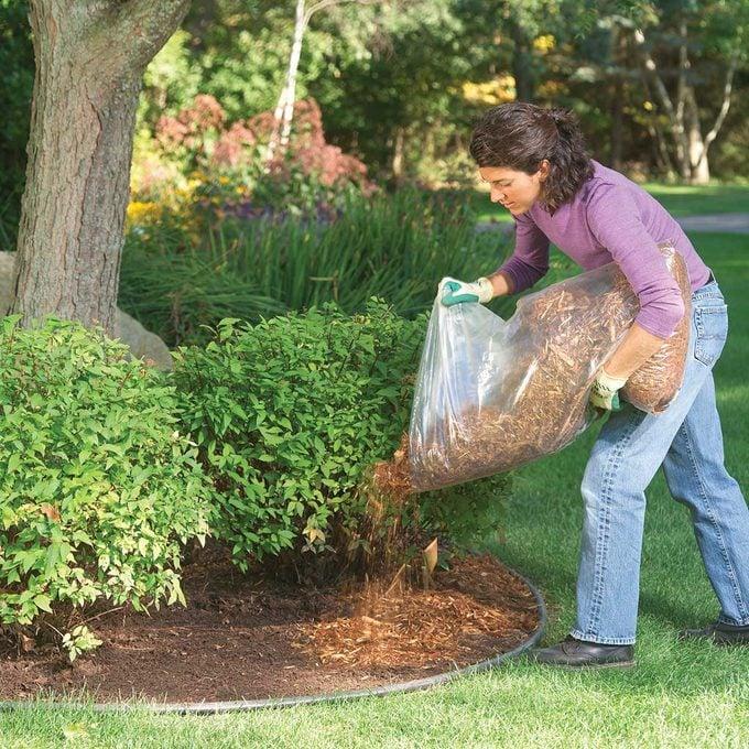Applying Mulch