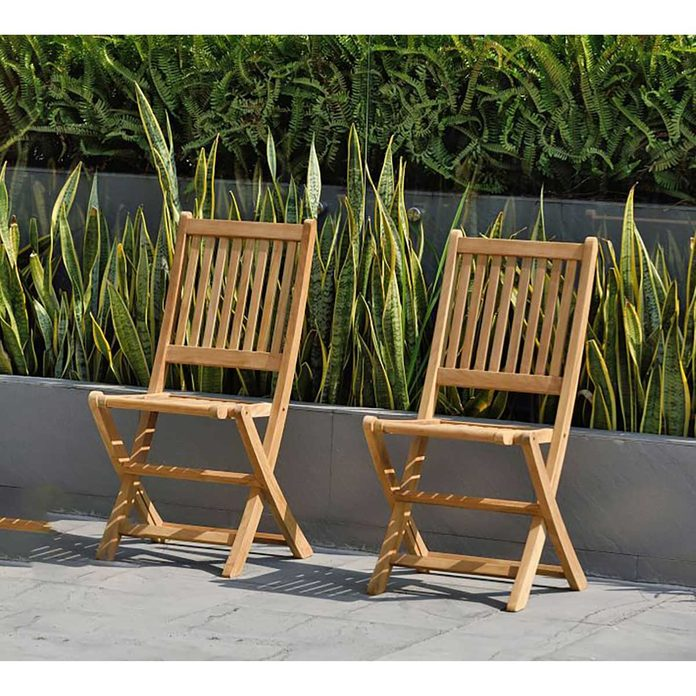 Outdoor Folding Chair Josie Teak Folding Dining Armchairs Sets Of 2 O