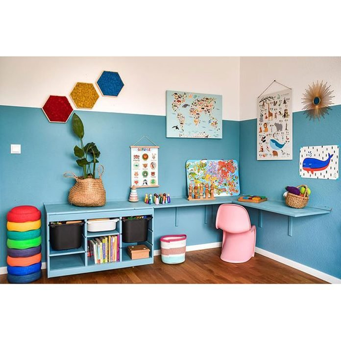 Bright Blue Kids Room