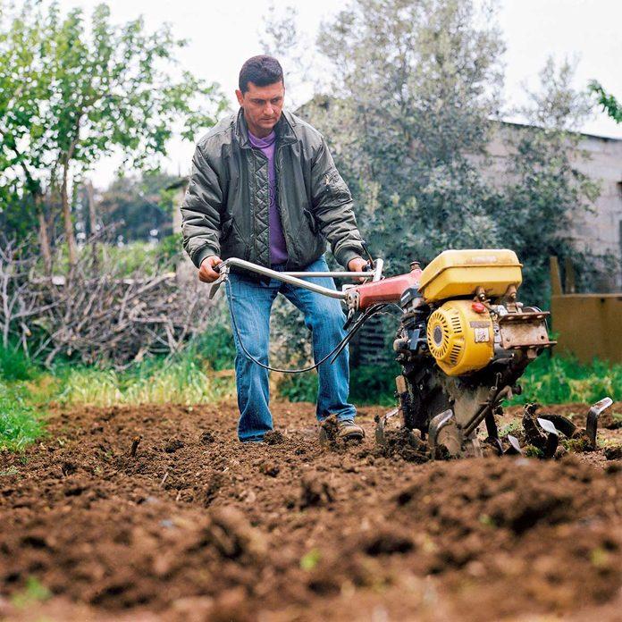 Tilling A Garden