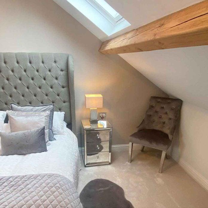 attic bedroom wooden beam