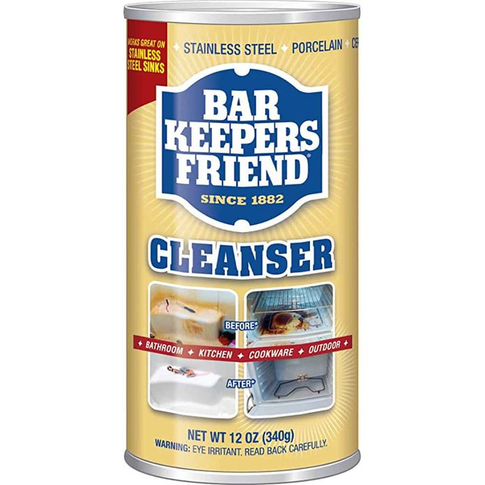 powdered cleanser stainless steel