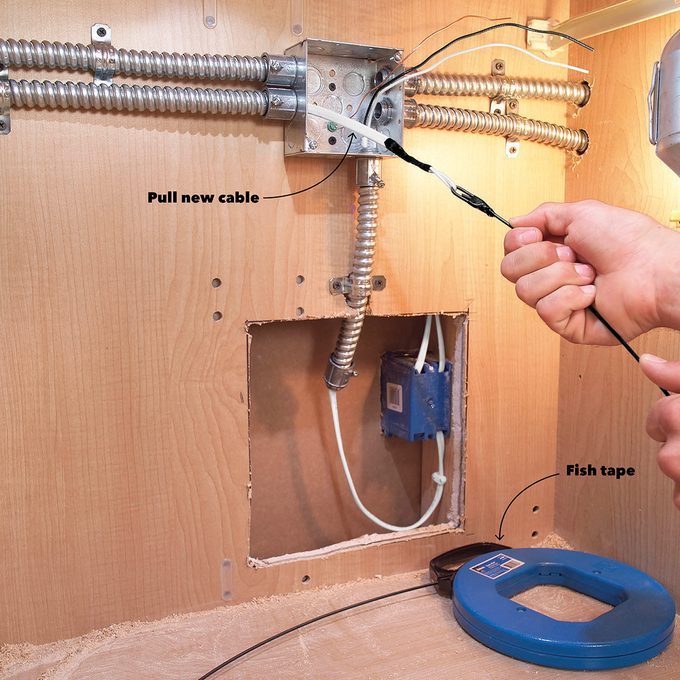 Run Conduit in Closets or Cabinets