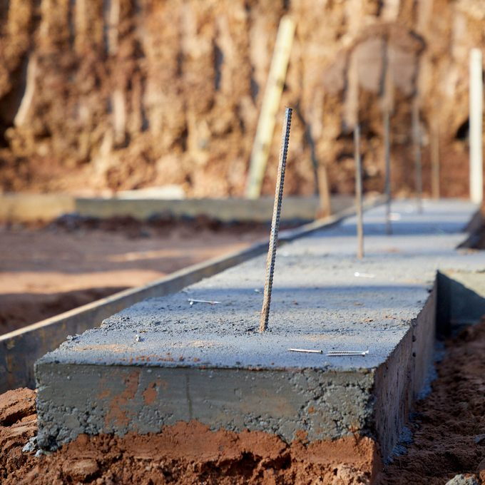Getaway Site the poured foundation