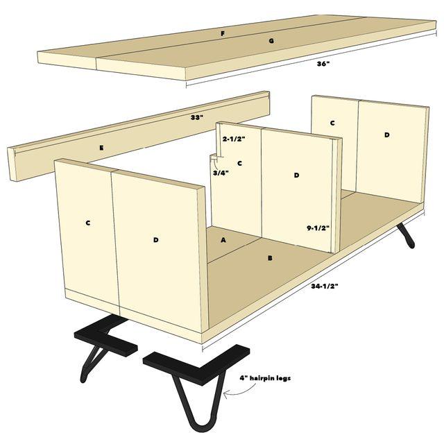 Bathroom bench diagram