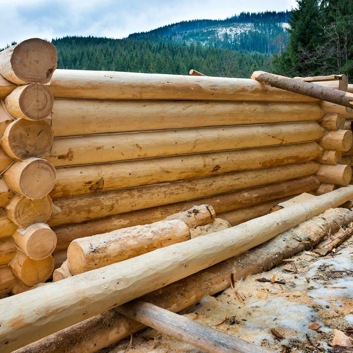 Building A Log Cabin Gettyimages 510404730