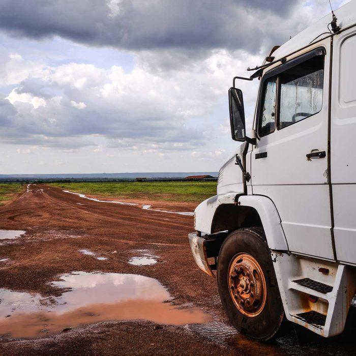 Gravel Road Truck