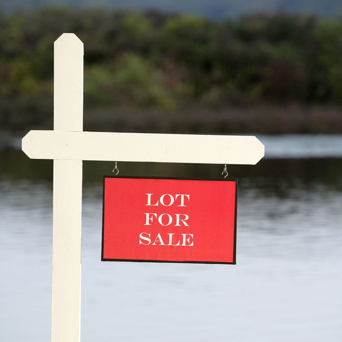 Lake Property For Sale Sign