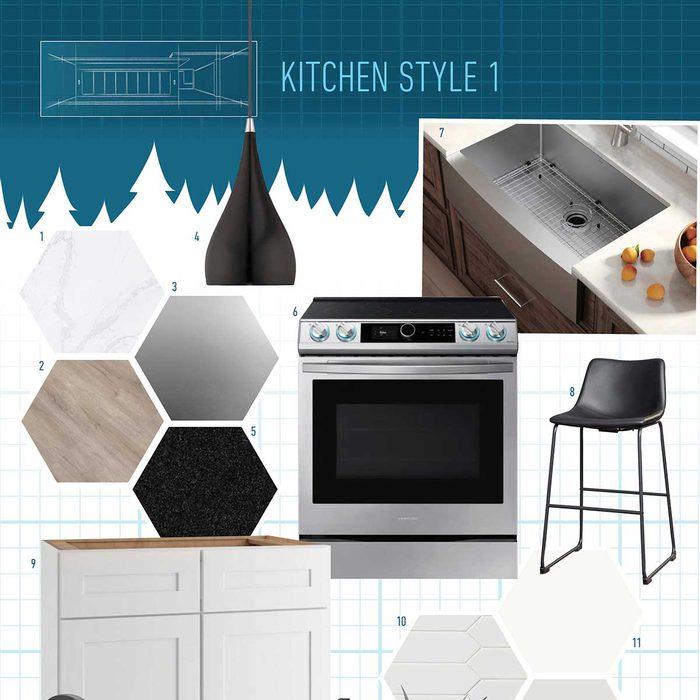 Square Kitchen Style moodboard