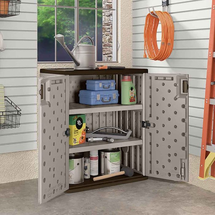 garage cabinet with shelves