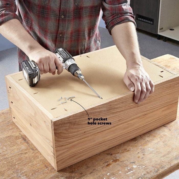 Assemble the cabinet box