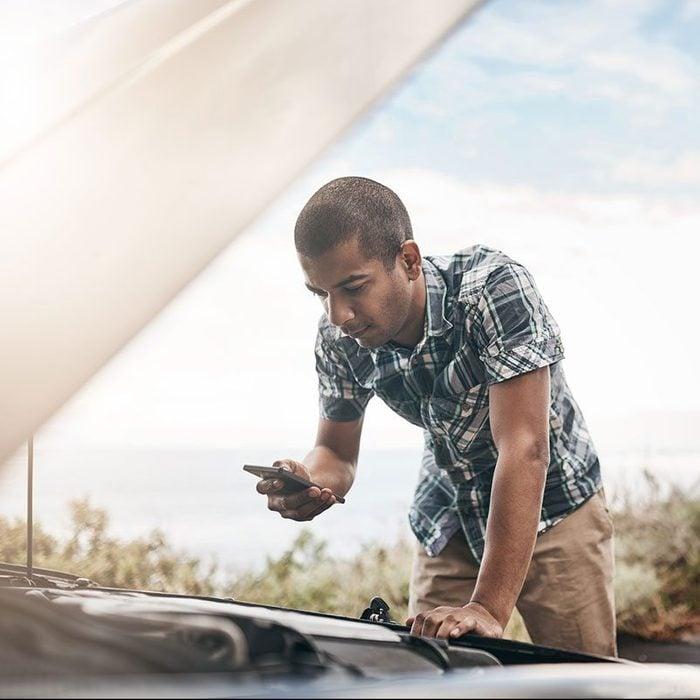 Checking A Car