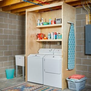 How to DIY Laundry Shelves
