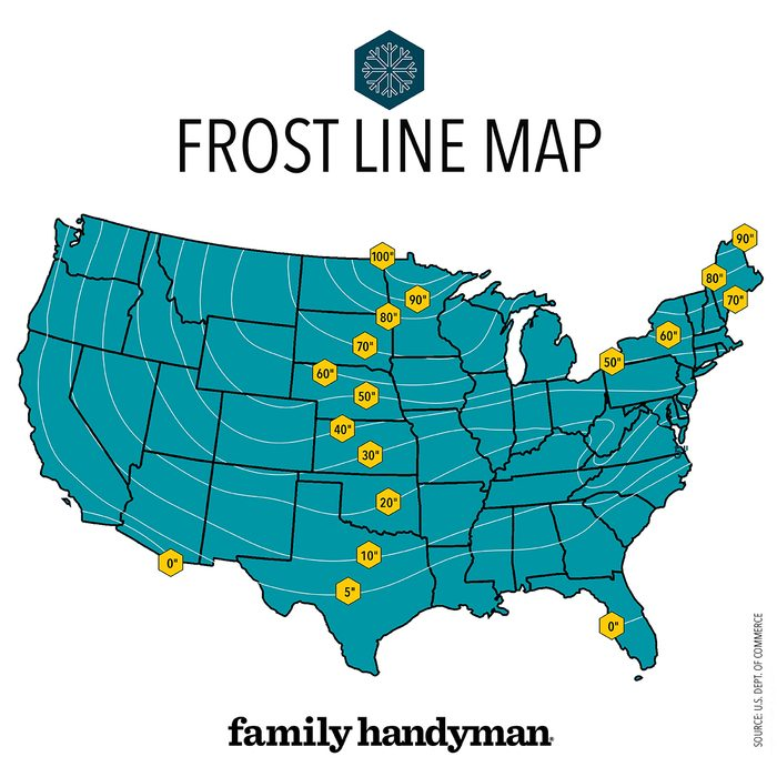 Frost line map