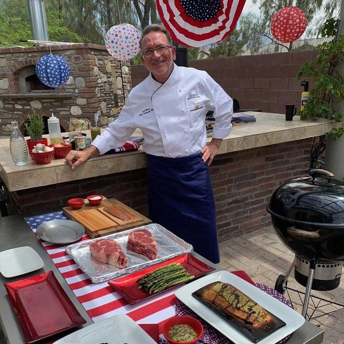 Rick Moonen Grilling Portrait