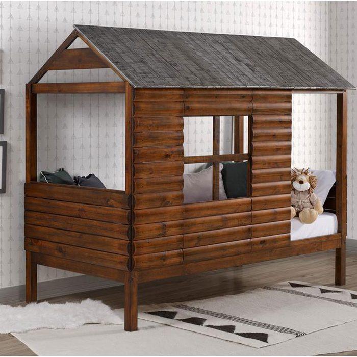 Log Furniture Bed