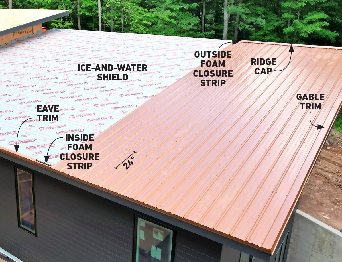 How To Install Metal Roofing Family Handyman