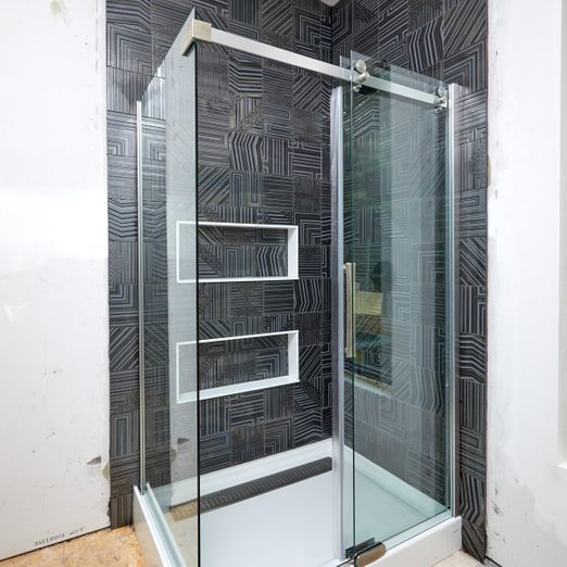 Glass shower surround
