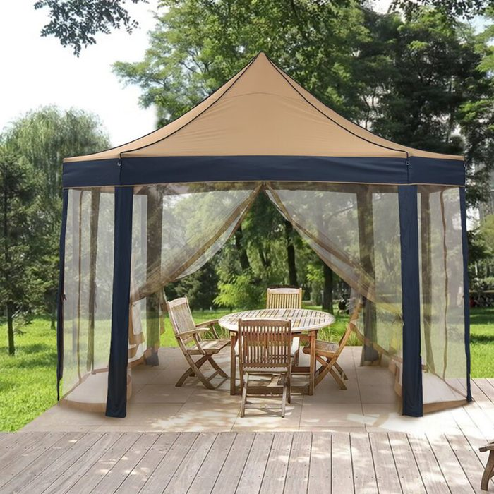 Outdoor+8 Sided+13+ft.+w+x+10+ft.+d+metal+pop Up+canopy
