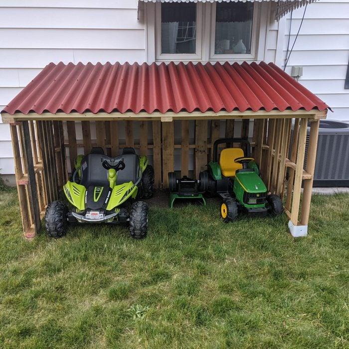 Kids carport