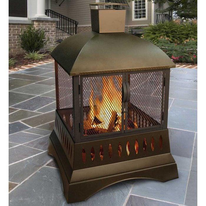 Outdoor Fireplace 15.5''+h+steel+wood+burning+outdoor+pagoda
