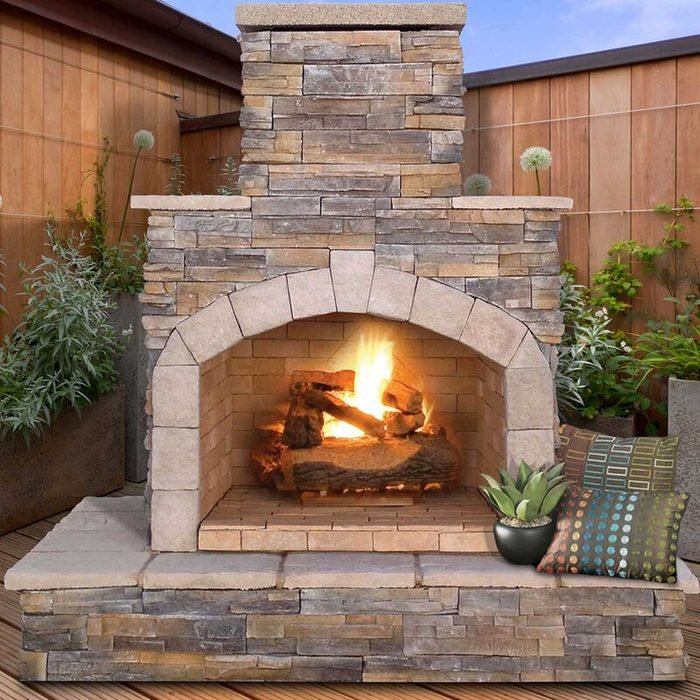 Outdoor Fireplace 78''+h+steel+outdoor+fireplace