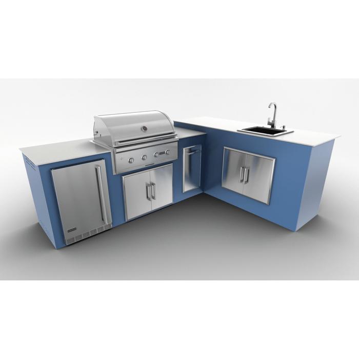Outdoor Kitchen Kit G8 Lshape C36 Doubledoor Sink Right Navymarine 3 1024x576