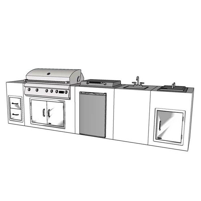 Outdoor Kitchen Kit Lion 12ft Bbq Island 94777.1566515759