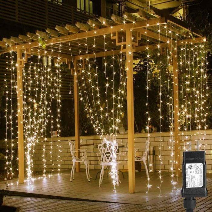 Pergola Curtain Lights