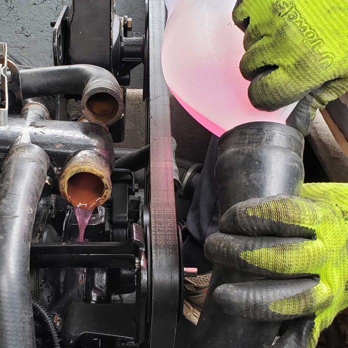 Drain Hoses and Add Antifreeze
