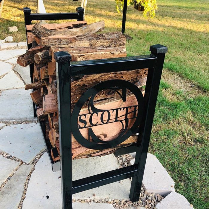 Best Handmade, Customizable Outdoor Firewood Rack