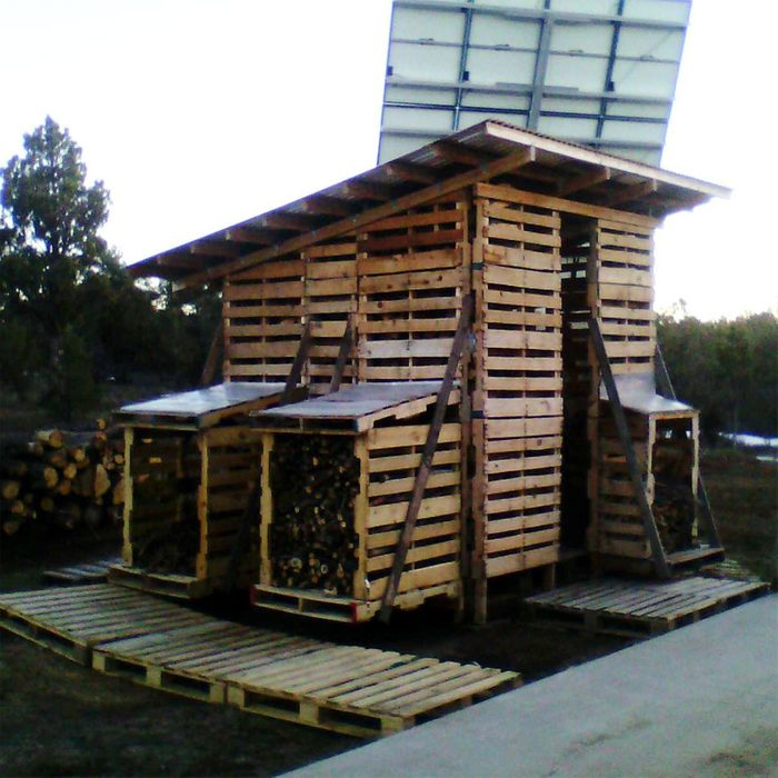 Best Reclaimed Outdoor Firewood Rack:shed
