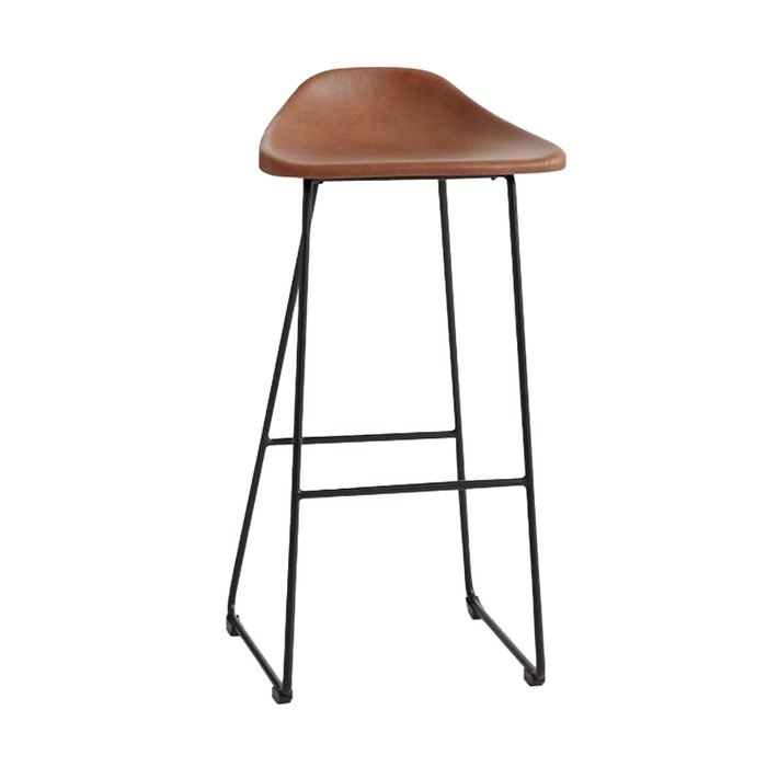 Brenner Leather Bar & Counter Stool Pottery Barn