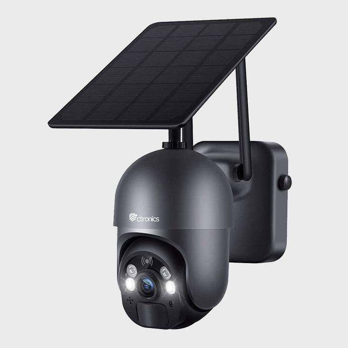 Ctronics Wireless Wifi 360 Degrees Ptz Solar Security Camera