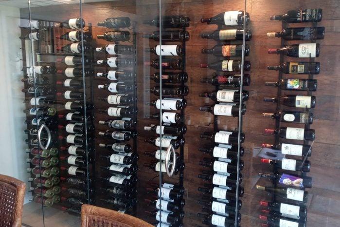 Dennis Caresio Wine Wall 1