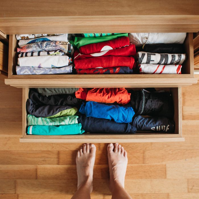 neat dresser drawers after organizing