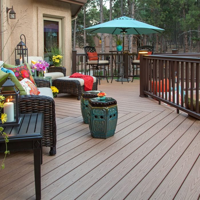 compost Deck after being cleaned