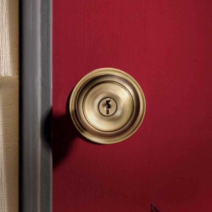 door knob on the exterior of a home