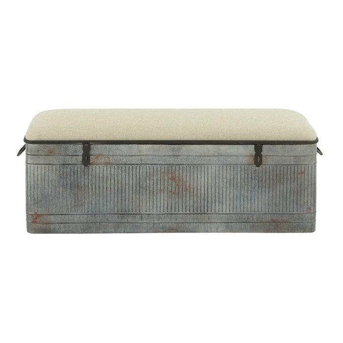 Rustic Farmhouse Bedroom Storage Bench