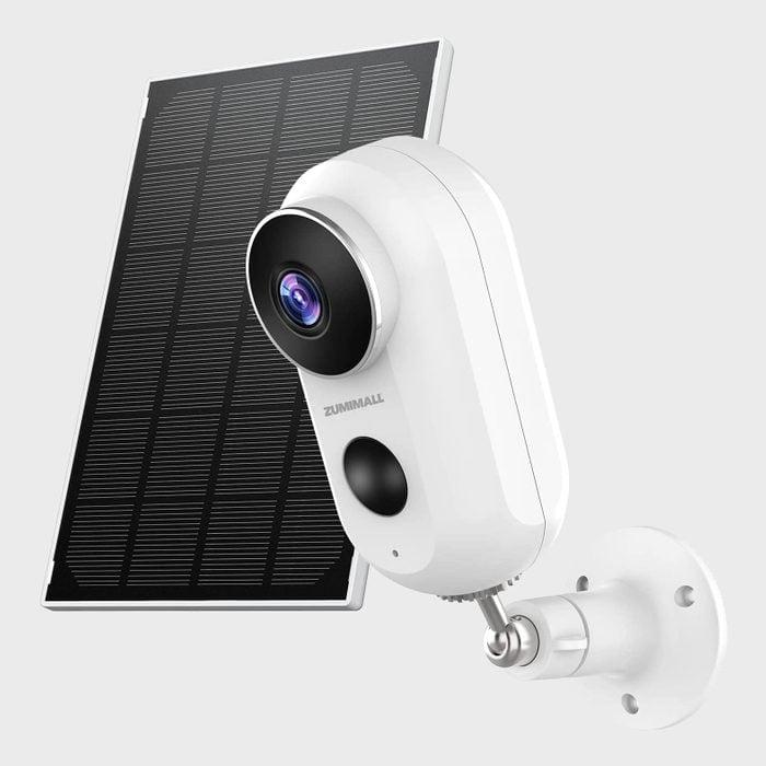 Security Camera Outdoor Wireless Wifi Zumimall Solar Powered Surveillance Camera