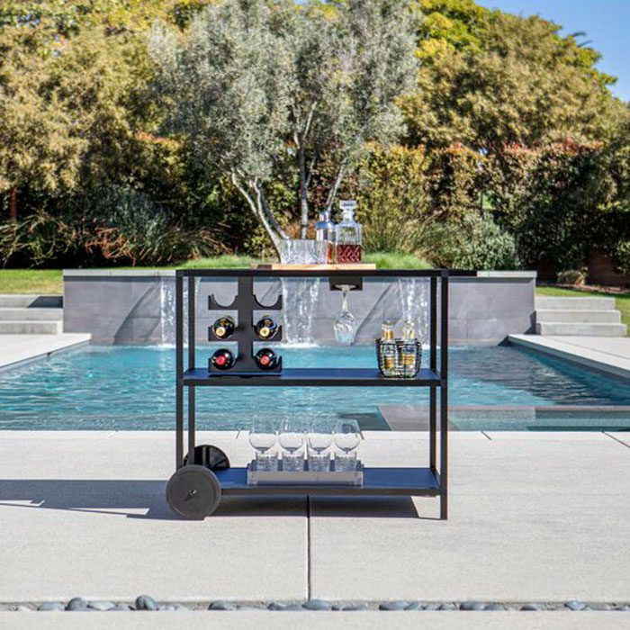 Veradek Outdoor Kitchen Series Free Standing Bar Cart