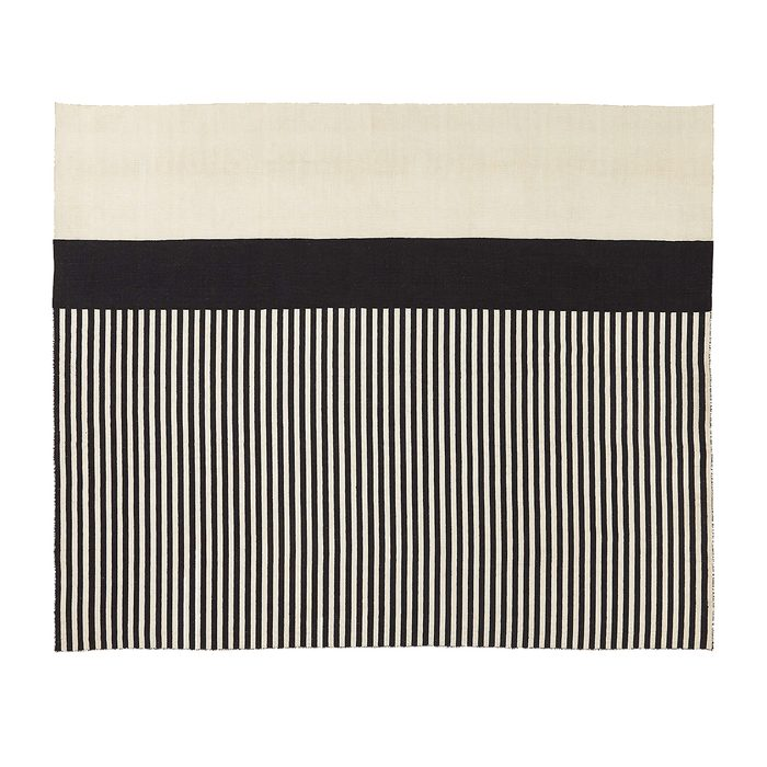 Cb2 Black And White Outdoor Rug