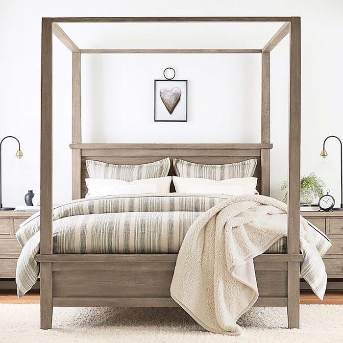 Farmhouse Canopy Bed Via Potterbarn.com