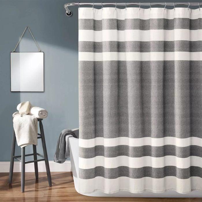Cape Cod Stripe Yarn Dyed Cotton Shower Curtain Lush Décor