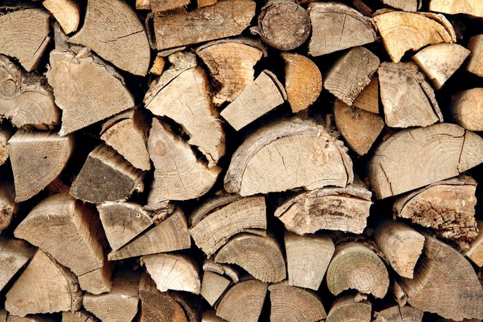 Pile of Kiln-dried firewood.