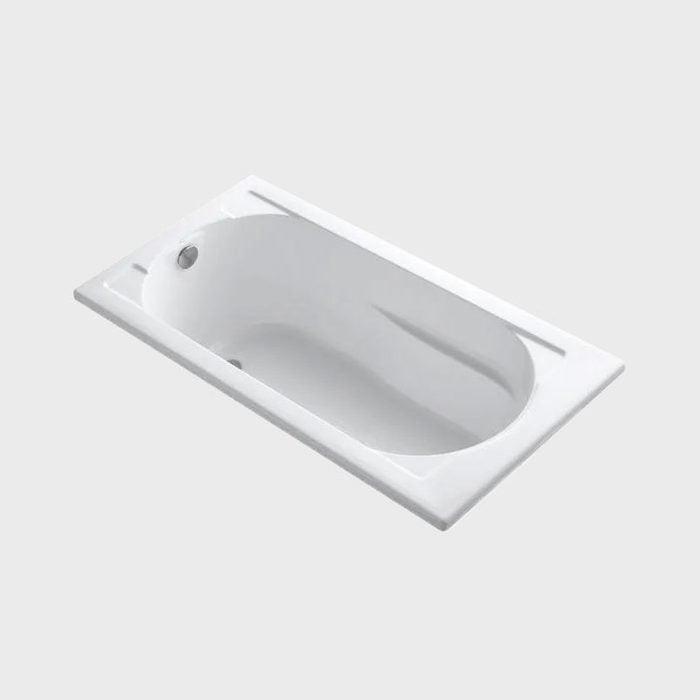 Kohler Devonshire 60 In. X 32 In. Acrylic Drop In Bathtub With Reversible Drain In White