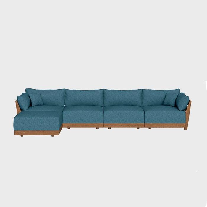 Modular Bondi 4 Seater Sofa In Aegean Blue