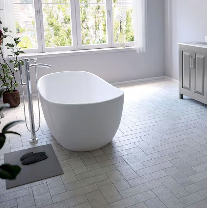 Wyndham Collection Rebecca 60 In. Acrylic Flatbottom Non Whirlpool Bathtub In White With Polished Chrome Trim