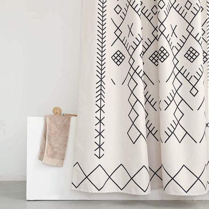 Yokii Boho Moroccan Fabric Shower Curtain